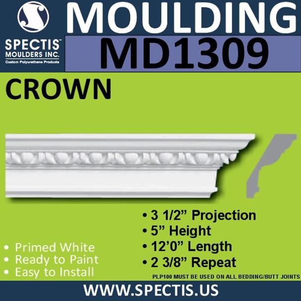 """MD1309 Spectis Crown Molding Trim 3 1/2""""P x 5""""H x 144""""L"""
