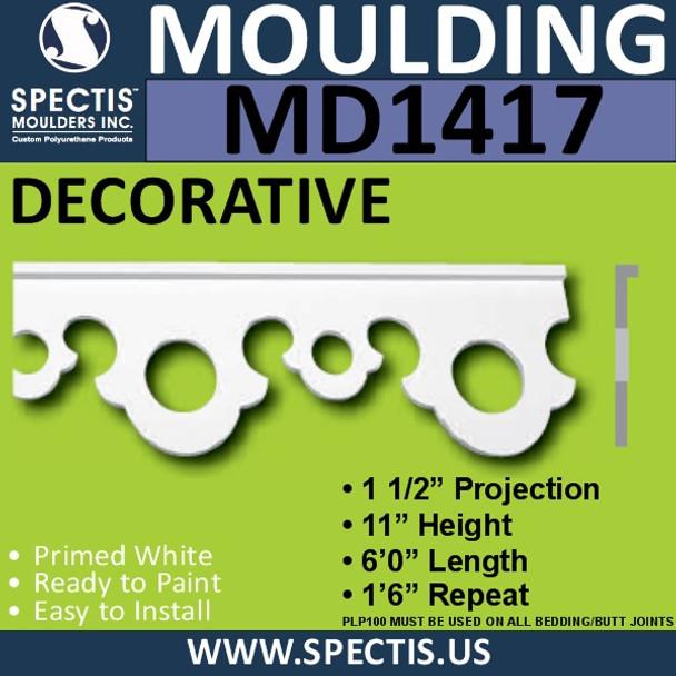 """MD1417 Spectis Molding Base Cap Trim 3/4""""P x 11""""H x 72""""L"""