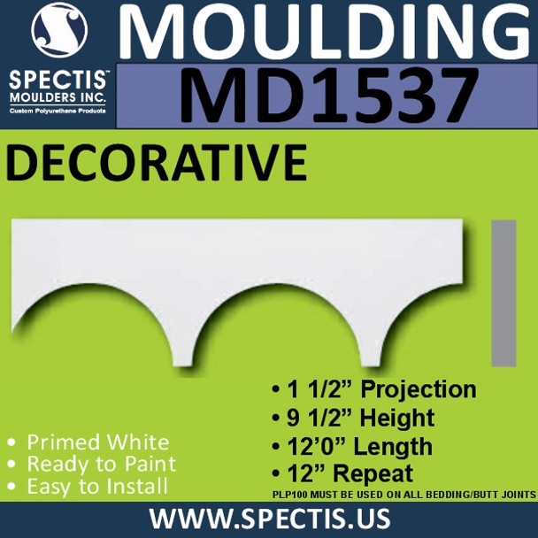 """MD1537 Spectis Cap Trim 1 1/2""""P x 9 1/2""""H x 144""""L"""