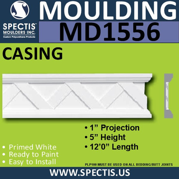 "MD1556 Spectis Molding Jamb Stock Trim 1""P x 5""H x 144""L"