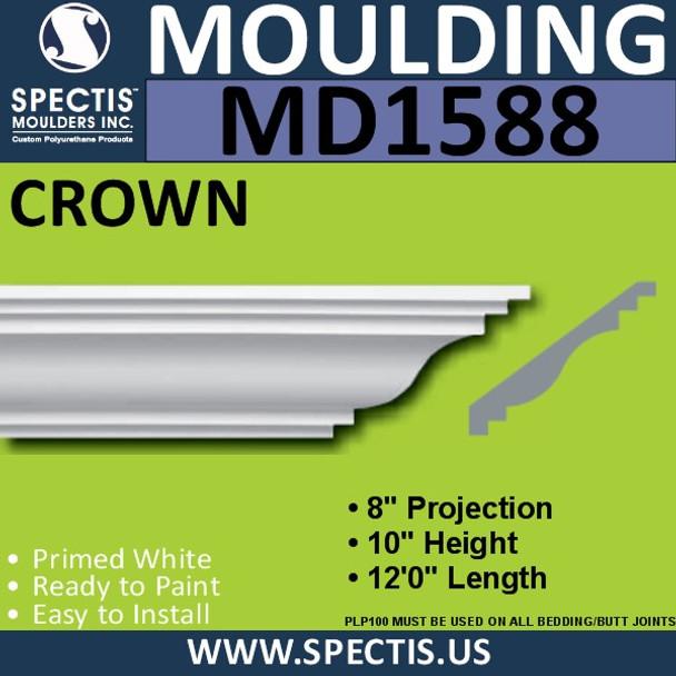 """MD1588 Spectis Crown Molding Trim 8""""P x 10""""H x 144""""L"""