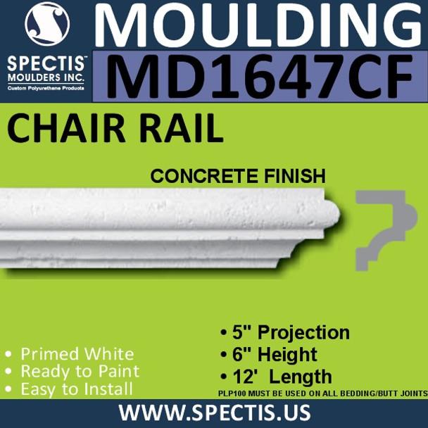 "MD1647CF Spectis Molding Concrete Finish Cap 5""P x 6""H x 144""L"