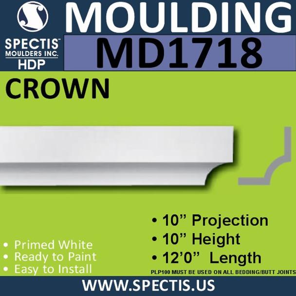 """MD1718 Spectis Crown Molding Trim 10""""P x 10""""H x 144""""L"""