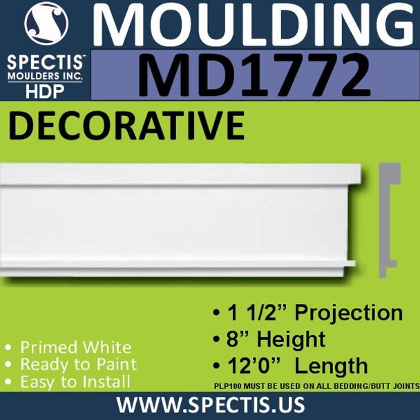 """MD1772 Spectis Molding Base Trim 1 1/2""""P x 8""""H x 144""""L"""