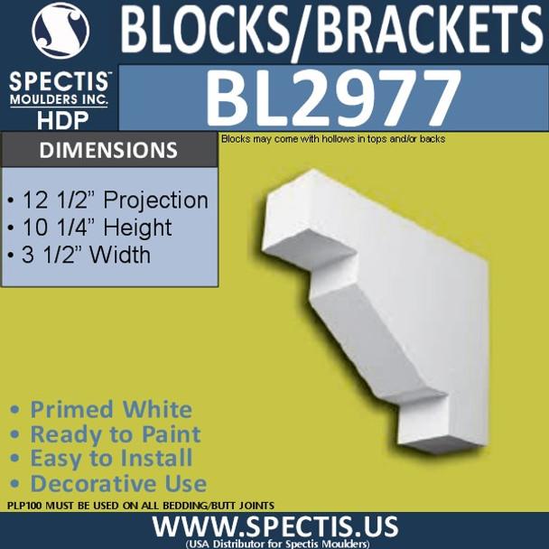 "BL2977 Eave Block or Bracket 3.5""W x 10.25""H x 12.5"" P"