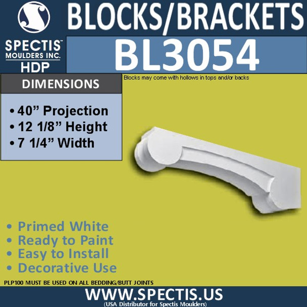 "BL3054 Eave Block or Bracket 6.75""W x 40""H x 12"" P"