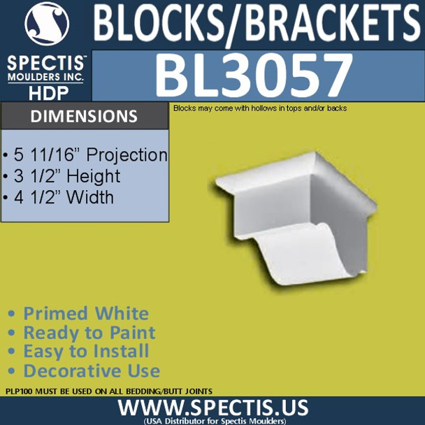 "BL3057 Eave Block or Bracket 4.5""W x 6""H x 3"" P"