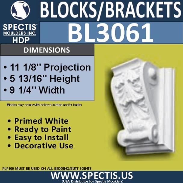"BL3061 Eave Block or Bracket 9.25""W x 6""H x 11.13"" P"