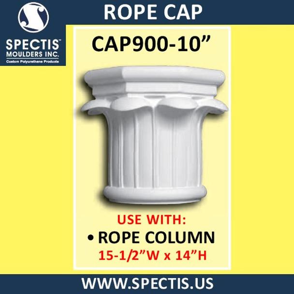 "CAP900-10 Rope Cap 15 1/2""W x 14""H for 10"" top column"