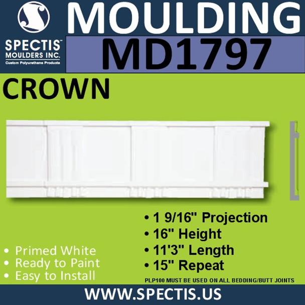 MD1797 Crown Molding Trim decorative spectis urethane