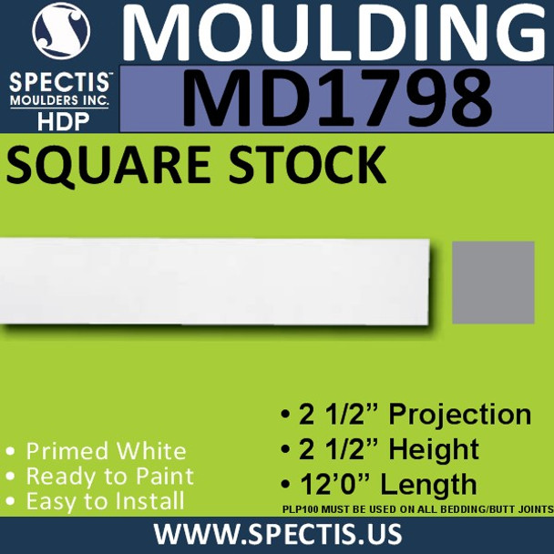 MD1798 Square Stock Molding Trim decorative spectis urethane