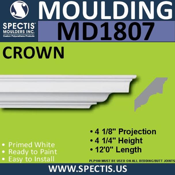 MD1807 Crown Molding Trim decorative spectis urethane