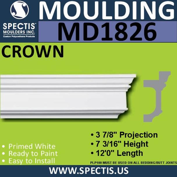 MD1826 Crown Molding Trim decorative spectis urethane