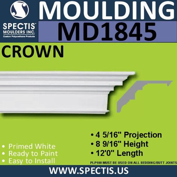 MD1845 Crown Molding Trim decorative spectis urethane