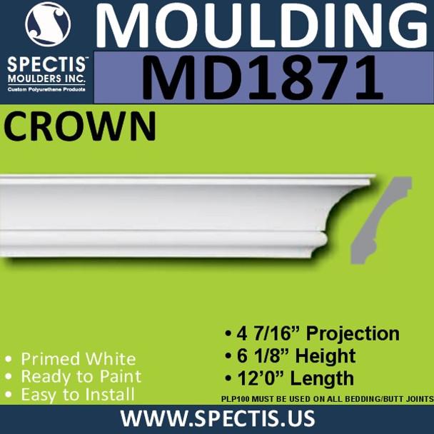 MD1871 Crown Molding Trim decorative spectis urethane