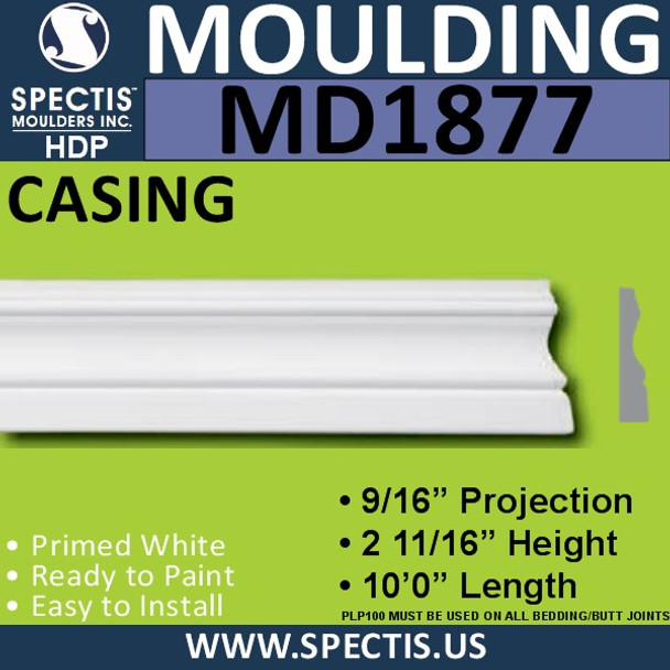 MD1877 Case Universal Molding Trim decorative spectis urethane