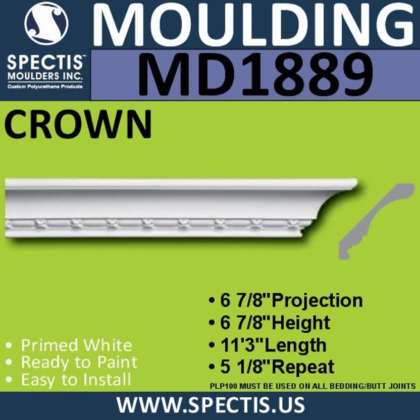 MD1889 Crown Molding Trim decorative spectis urethane