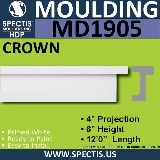 MD1905 Crown Molding Trim decorative spectis urethane