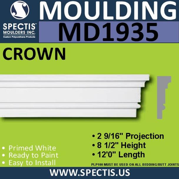 MD1935 Crown Molding Trim decorative spectis urethane