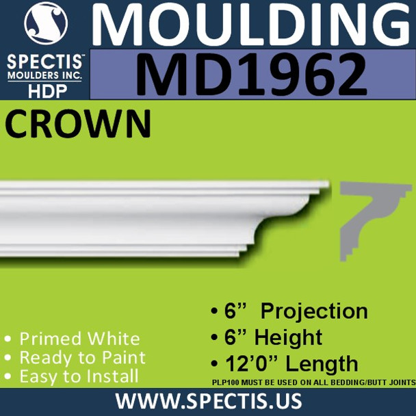 MD1962 Crown Molding Trim decorative spectis urethane