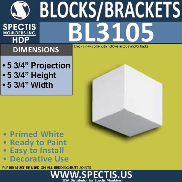BL3105 Spectis Eave Block 5.75 Square