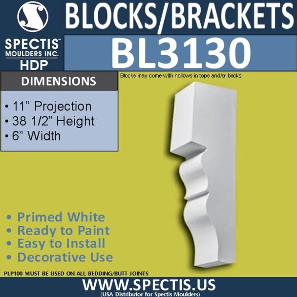 "BL3130 Eave Block or Bracket 6""W x 38.5""H x 11""P"
