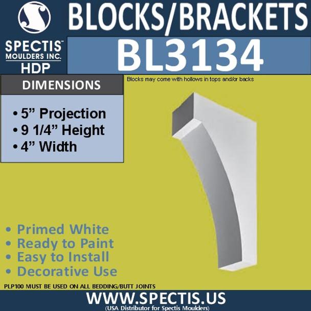"BL3134 Eave Block or Bracket 4""W x 9.25""H x 5""P"