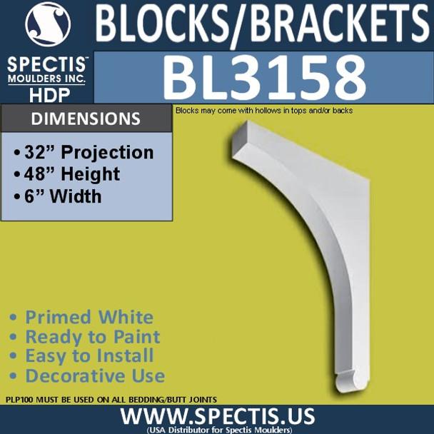 "BL3158 Eave Bracket 5""W x 48""H x 32""P"