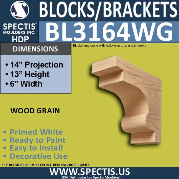 "BL3164WG Wood Grain Eave Block 6""W x 13""H x 14""P"