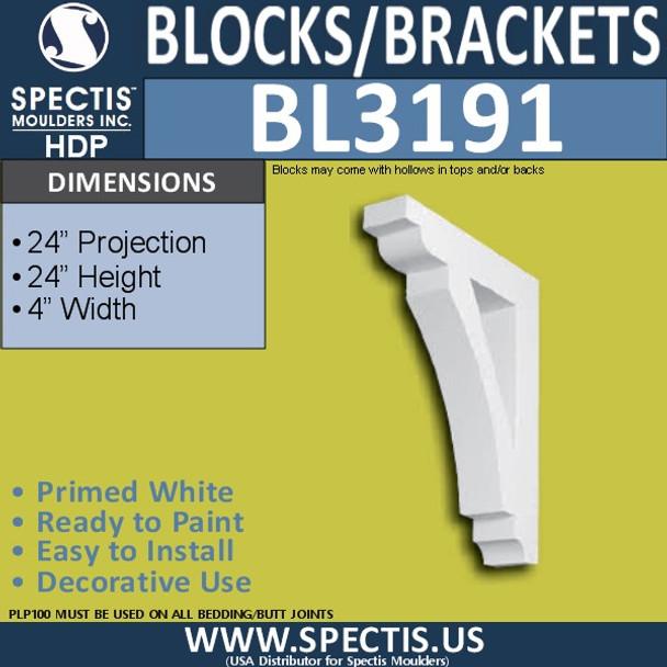 "BL3191 Eave Block or Bracket 4""W x 24""H x 24""P"