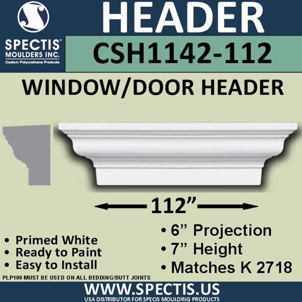 """CSH1142-112 Crosshead for Window/Door 6""""P x 7""""H x 112""""W"""
