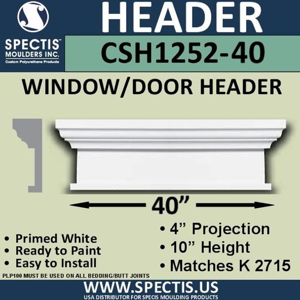 """CSH1252-40 Crosshead for Window/Door 4""""P x 10""""H x 40""""W"""