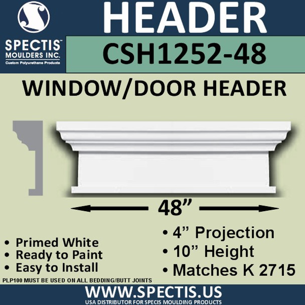"""CSH1252-48 Crosshead for Window/Door 4""""P x 10""""H x 48""""W"""