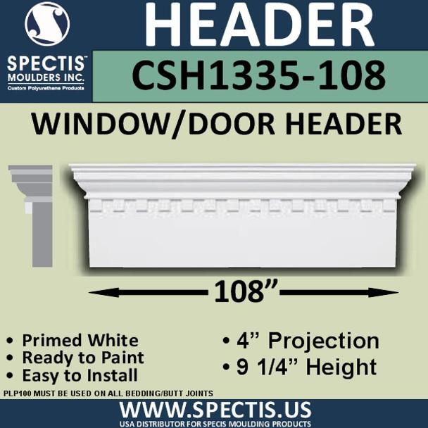 """CSH1335-108 Crosshead for Window/Door 4""""P x 9.25""""H x 108""""W"""