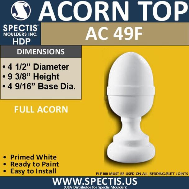 """AC49F Spectis Urethane Acorn Post Cap 4.5"""""""