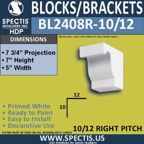 "BL2408R-10/12 Pitch Eave Bracket 5""W x 7""H x 7.75"" P"