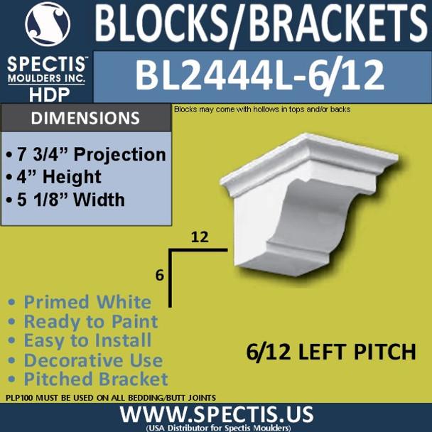 "BL2444L-6/12 Pitch Eave Block 5""W x 4""H x 8"" P"