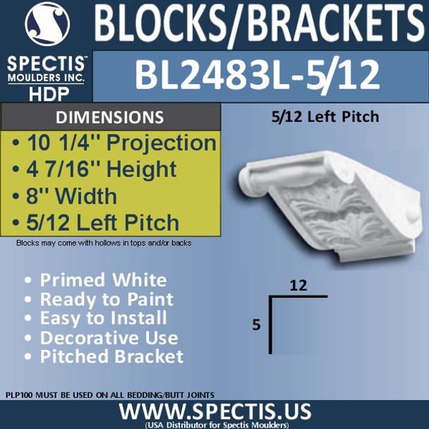 """BL2483L-5/12 Pitch Eave Bracket 14""""W x 7""""H x 11"""" P"""