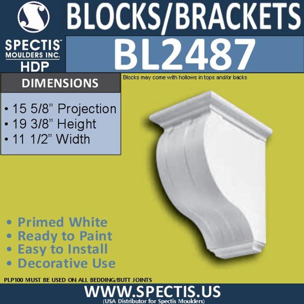 "BL2487 Eave Block or Bracket 11.5""W x 19""H x 16"" P"