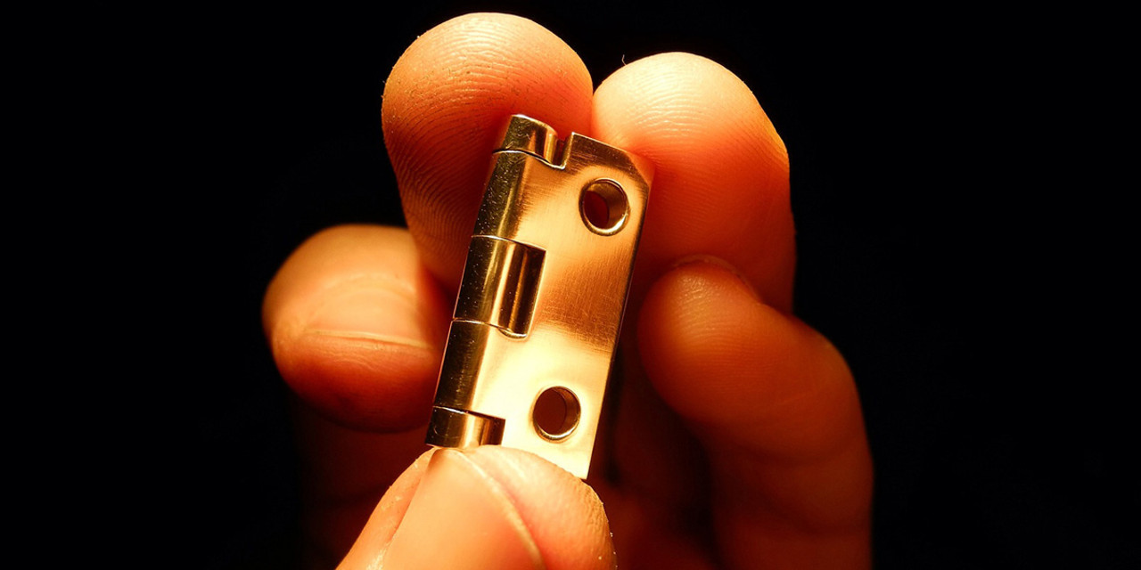Brass box hinge