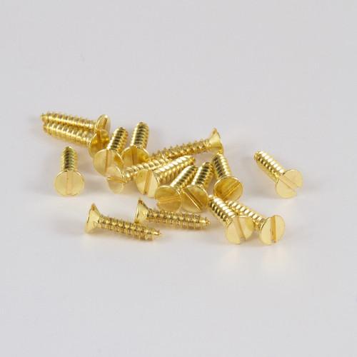 Brass Screws (Pack of 100)