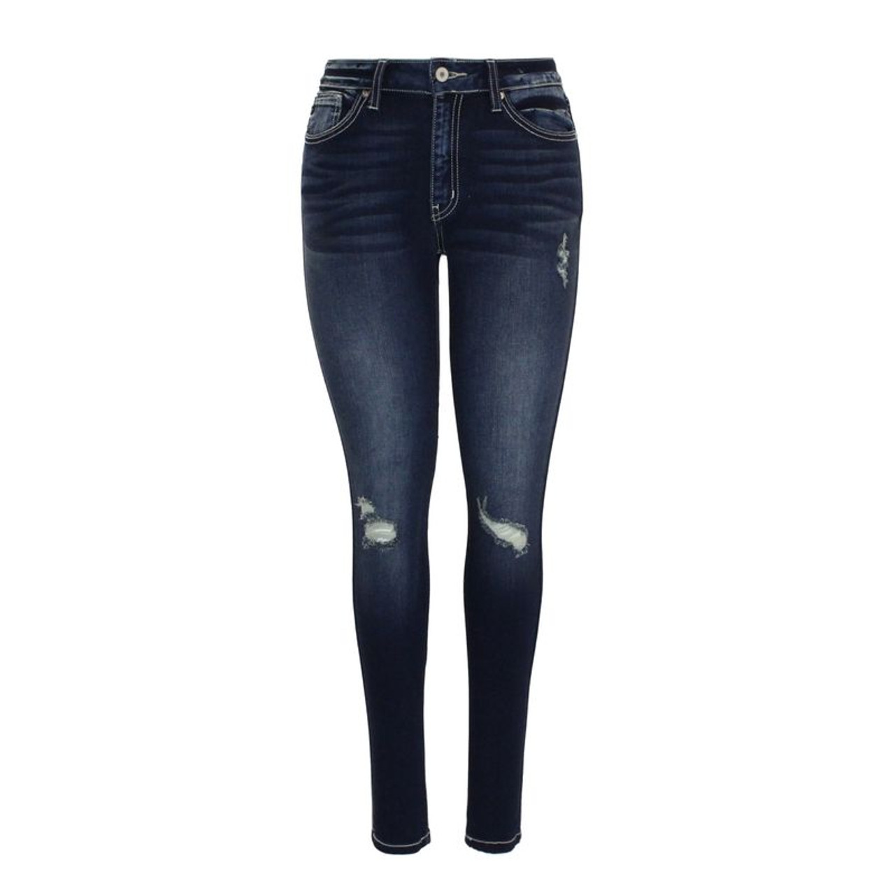 a69e53377ca118 Lacey Mid Rise Skinny Jeans (KanCan) - Trendy Threads Inc