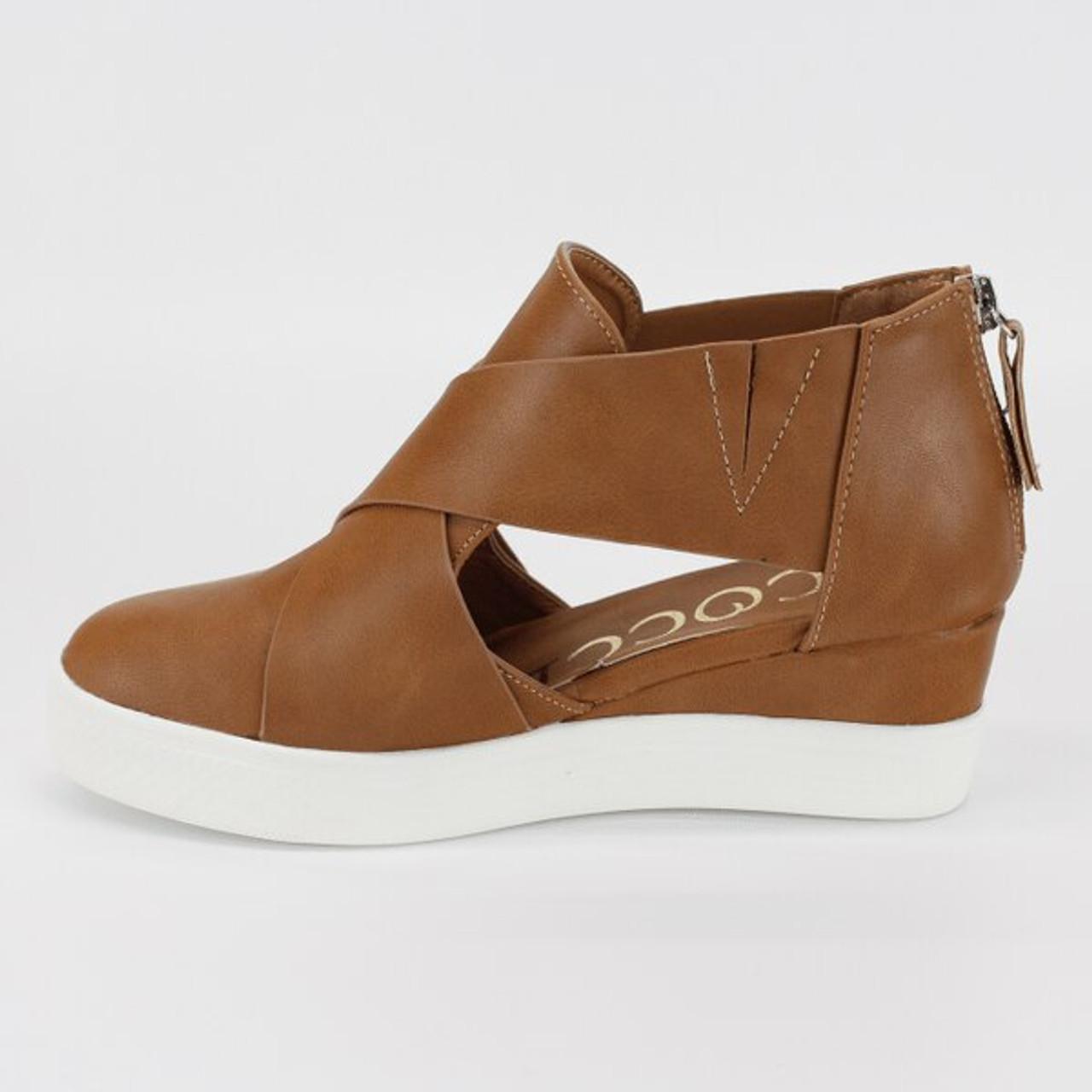 Melody Open Side Wedge Sneaker