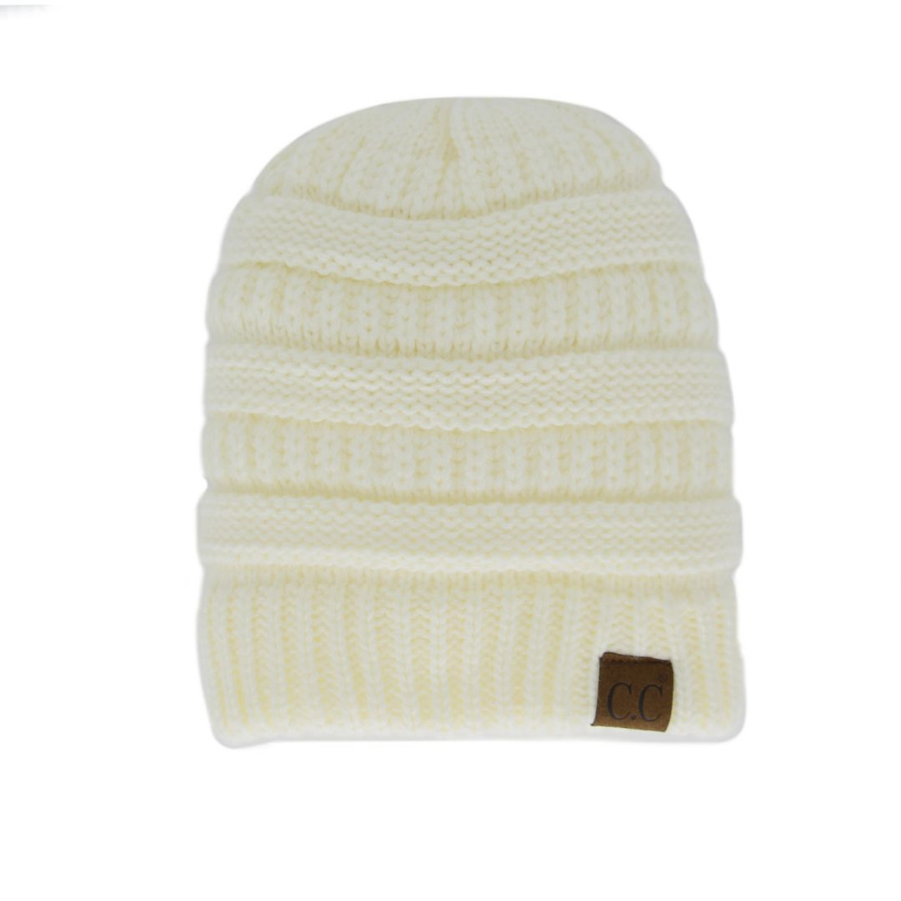 ecabcc942e6d59 Original C.C Beanie - Ivory - Trendy Threads Inc