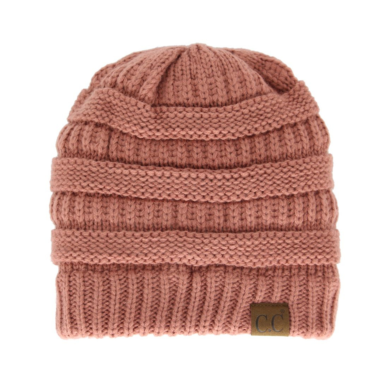 4300f52204605b Original C.C Beanie - Mauve - Trendy Threads Inc