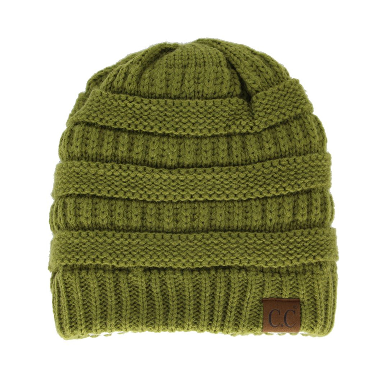 7d2475adb4e5ec Original C.C Beanie - Olive - Trendy Threads Inc