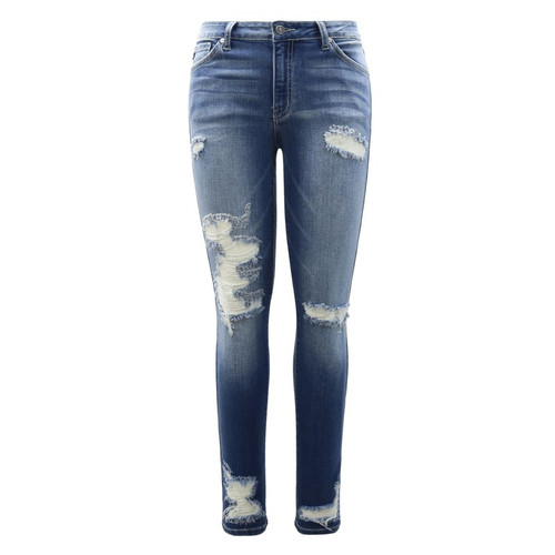 8324919ded97 Mid Rise Distressed Skinny Jeans   Brandy Mid Rise Distressed Skinny Jeans  by KanCan