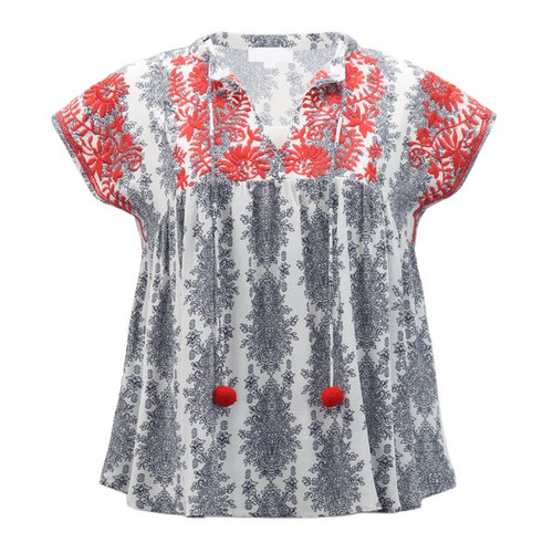 Cute  Embroidered Blouse | Boho Dreams Embroidered Top