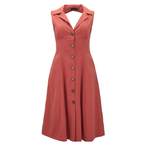 The Lucy Dress - Color Rust