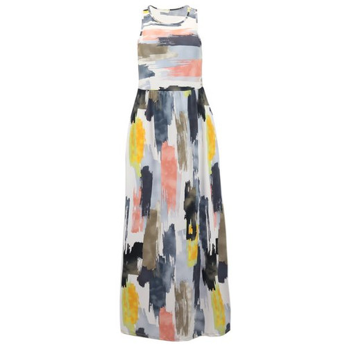 Striped Maxi Dress - Luna Color : Charcoal/Peach